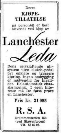 Lanchester Leda reklame