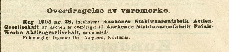 Fafnir 1915